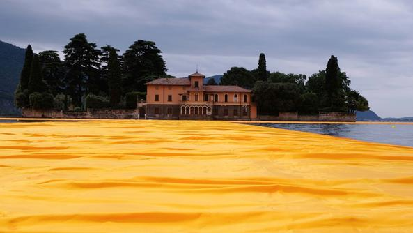 L'isola di San Paolo vista da The Floating Piers