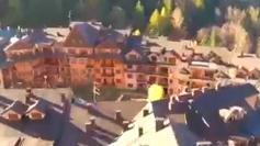 Un frame del video realizzato con un drone e dedicato a Montecampione Alessandro Tomasi ha girato il video promozionale con i droni