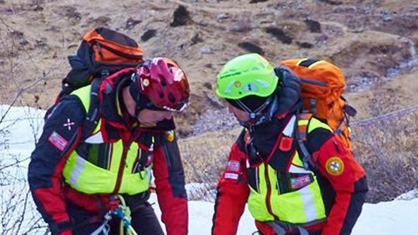 Un soccorso in montagna