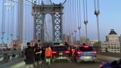 George Floyd, a New York il corteo attraversa Manhattan Bridge