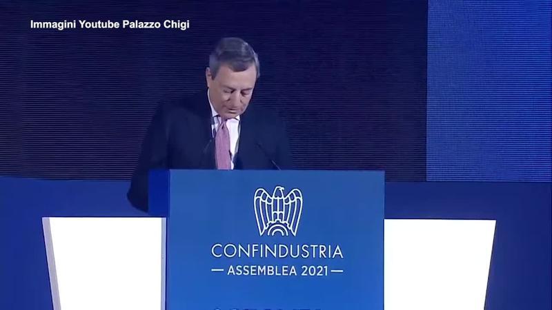"""Video: Draghi : """"Il governo non alzera' le tasse, i soldi ora si danno"""""""